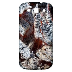 Wooden Hot Ashes Pattern Samsung Galaxy S3 S III Classic Hardshell Back Case