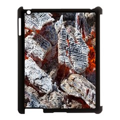 Wooden Hot Ashes Pattern Apple iPad 3/4 Case (Black)