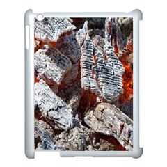 Wooden Hot Ashes Pattern Apple iPad 3/4 Case (White)