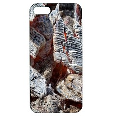 Wooden Hot Ashes Pattern Apple iPhone 5 Hardshell Case with Stand