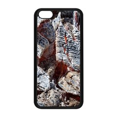 Wooden Hot Ashes Pattern Apple iPhone 5C Seamless Case (Black)