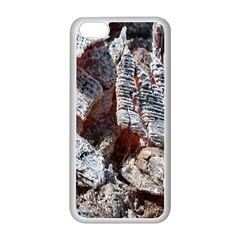 Wooden Hot Ashes Pattern Apple iPhone 5C Seamless Case (White)
