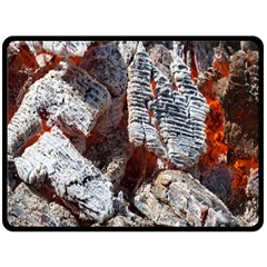 Wooden Hot Ashes Pattern Double Sided Fleece Blanket (large)