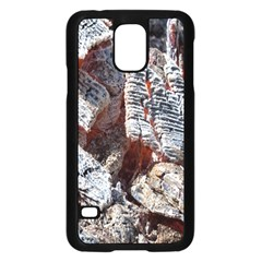Wooden Hot Ashes Pattern Samsung Galaxy S5 Case (Black)