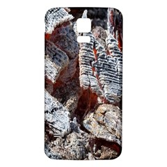 Wooden Hot Ashes Pattern Samsung Galaxy S5 Back Case (White)