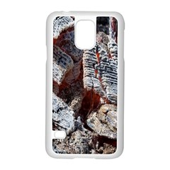 Wooden Hot Ashes Pattern Samsung Galaxy S5 Case (White)