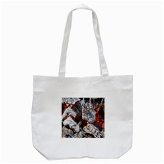 Wooden Hot Ashes Pattern Tote Bag (White)
