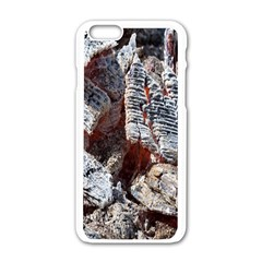 Wooden Hot Ashes Pattern Apple iPhone 6/6S White Enamel Case