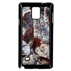 Wooden Hot Ashes Pattern Samsung Galaxy Note 4 Case (Black)