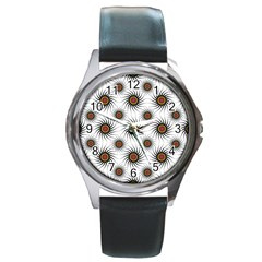 Pearly Pattern Half Tone Background Round Metal Watch