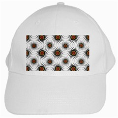 Pearly Pattern Half Tone Background White Cap