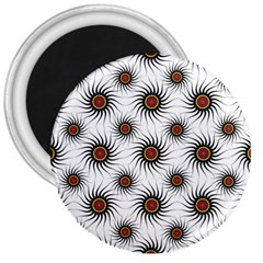 Pearly Pattern Half Tone Background 3  Magnets