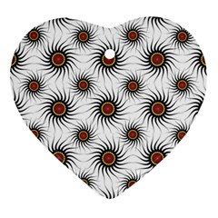Pearly Pattern Half Tone Background Ornament (Heart)