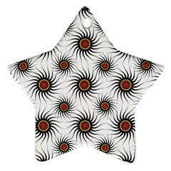 Pearly Pattern Half Tone Background Ornament (Star)