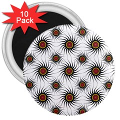 Pearly Pattern Half Tone Background 3  Magnets (10 pack)