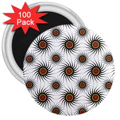 Pearly Pattern Half Tone Background 3  Magnets (100 pack)