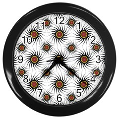 Pearly Pattern Half Tone Background Wall Clocks (black)