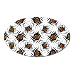 Pearly Pattern Half Tone Background Oval Magnet