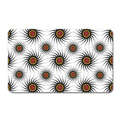 Pearly Pattern Half Tone Background Magnet (Rectangular)