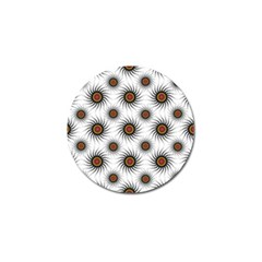 Pearly Pattern Half Tone Background Golf Ball Marker
