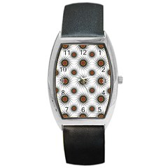 Pearly Pattern Half Tone Background Barrel Style Metal Watch