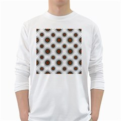 Pearly Pattern Half Tone Background White Long Sleeve T-Shirts