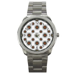 Pearly Pattern Half Tone Background Sport Metal Watch