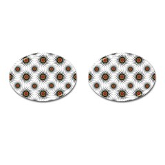 Pearly Pattern Half Tone Background Cufflinks (Oval)