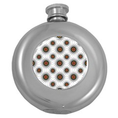 Pearly Pattern Half Tone Background Round Hip Flask (5 Oz)