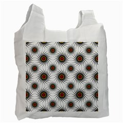 Pearly Pattern Half Tone Background Recycle Bag (two Side)