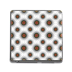 Pearly Pattern Half Tone Background Memory Card Reader (square)
