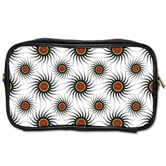 Pearly Pattern Half Tone Background Toiletries Bags 2 Side