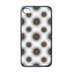 Pearly Pattern Half Tone Background Apple Iphone 4 Case (black)