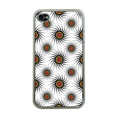 Pearly Pattern Half Tone Background Apple iPhone 4 Case (Clear)