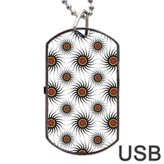 Pearly Pattern Half Tone Background Dog Tag Usb Flash (two Sides)