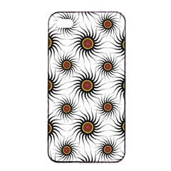 Pearly Pattern Half Tone Background Apple iPhone 4/4s Seamless Case (Black)