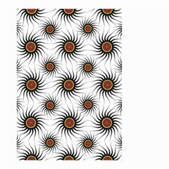 Pearly Pattern Half Tone Background Small Garden Flag (Two Sides)