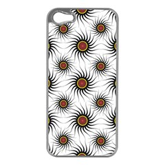 Pearly Pattern Half Tone Background Apple iPhone 5 Case (Silver)