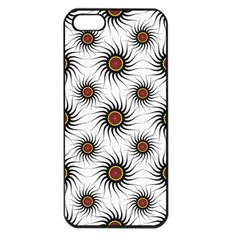 Pearly Pattern Half Tone Background Apple iPhone 5 Seamless Case (Black)