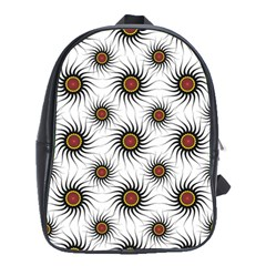 Pearly Pattern Half Tone Background School Bags (XL)
