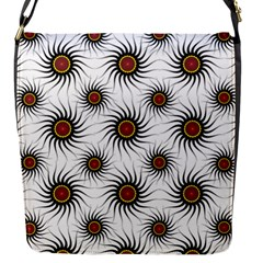 Pearly Pattern Half Tone Background Flap Messenger Bag (S)