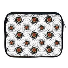 Pearly Pattern Half Tone Background Apple iPad 2/3/4 Zipper Cases