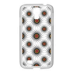 Pearly Pattern Half Tone Background Samsung GALAXY S4 I9500/ I9505 Case (White)
