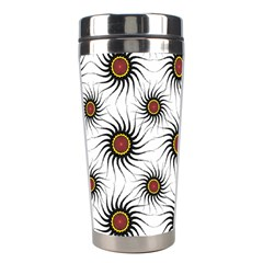 Pearly Pattern Half Tone Background Stainless Steel Travel Tumblers