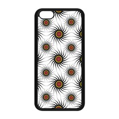 Pearly Pattern Half Tone Background Apple iPhone 5C Seamless Case (Black)