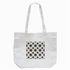 Pearly Pattern Half Tone Background Tote Bag (White)