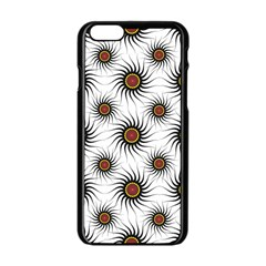 Pearly Pattern Half Tone Background Apple Iphone 6/6s Black Enamel Case