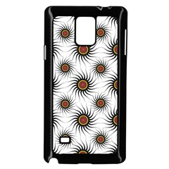 Pearly Pattern Half Tone Background Samsung Galaxy Note 4 Case (black)