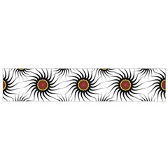 Pearly Pattern Half Tone Background Flano Scarf (small)