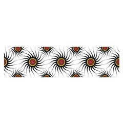 Pearly Pattern Half Tone Background Satin Scarf (oblong)